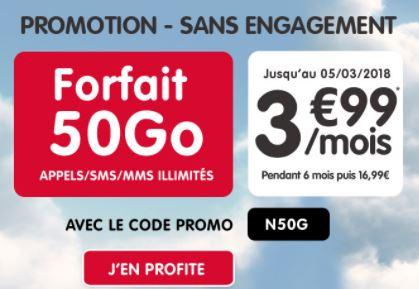 Forfait NRJ Mobile 50 Go : l'offre à 3.99 euros se termine dans quelques heures !