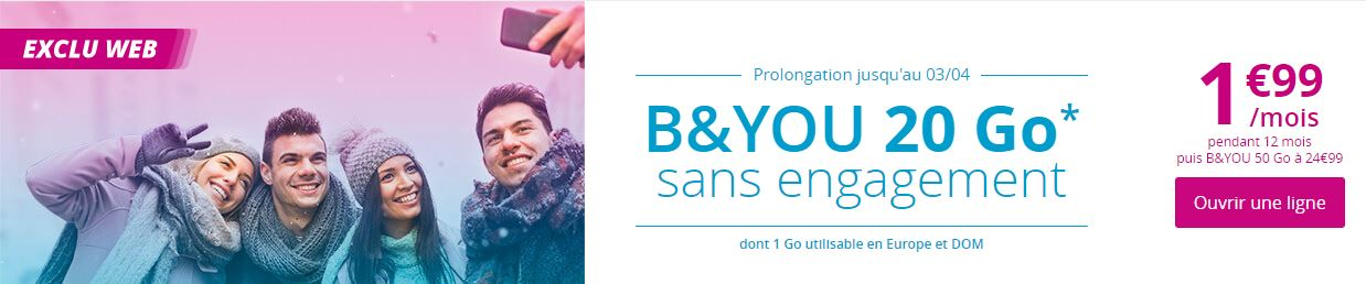 Forfait B-and-You 20 Go