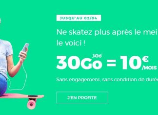 Forfait RED by SFR 30 Go 10 euros