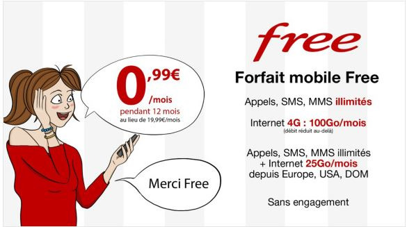 Le forfait 100 Go de Free Mobile passe à 0.99 euro sur Vente Privée