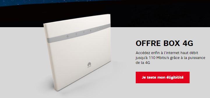 SFR : une box 4G avec 200 Go pour 32.99 euros !