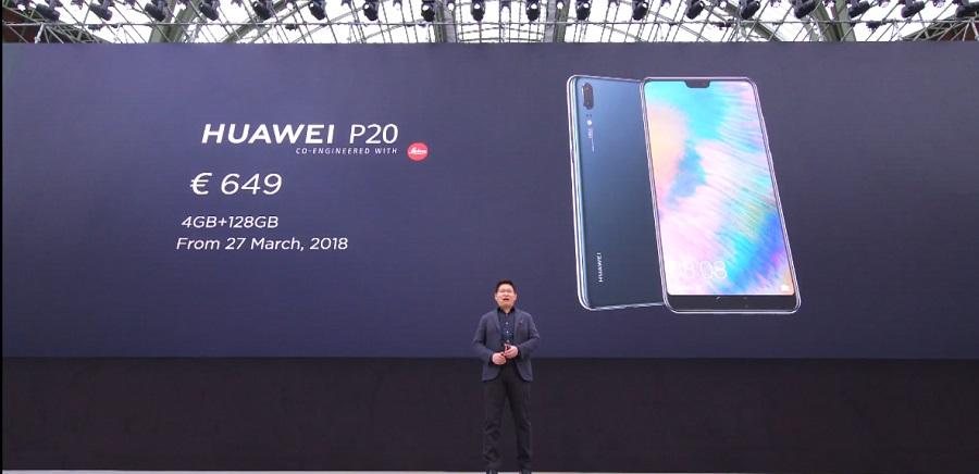 Huawei P20 prix