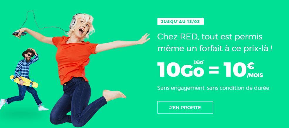Forfait RED by SFR 10 Go 10 euros : encore quelques heures avant la fin !