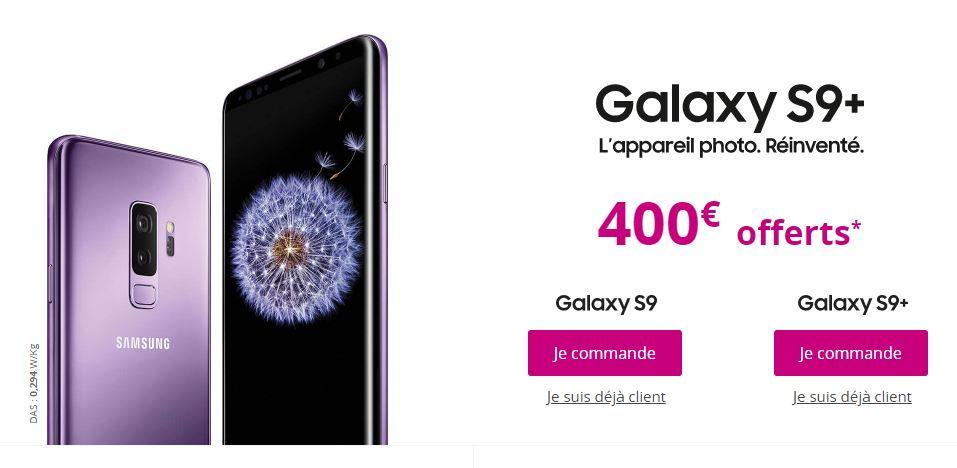 Bouygues Telecom vous offre 400 euros pour l'achat d'un Samsung Galaxy S9 !