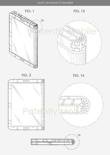 brevet samsung 2 - Samsung poursuit son travail sur le smartphone pliable en déposant un nouveau brevet