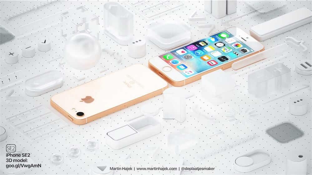 Martin Hajek dévoile un concept d'iPhone SE 2 ressemblant à l'iPhone 8