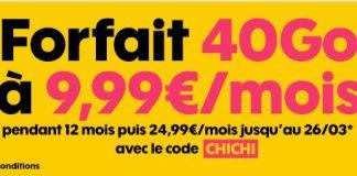Forfait Sosh 40 Go