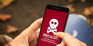 Virus sur un smartphone