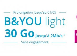 Forfait B&You light 30 Go