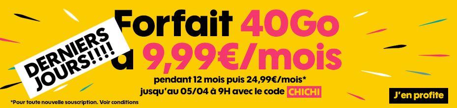 Le forfait Sosh 40 Go à 9.99 euros ne sera plus disponible dans quelques heures !