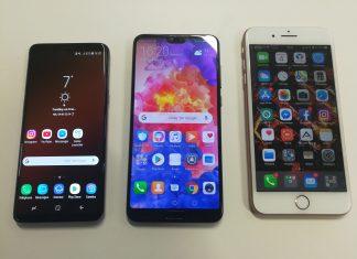 Samsung Galaxy S9 vs Huawei P20 Pro vs iPhone 8 Plus