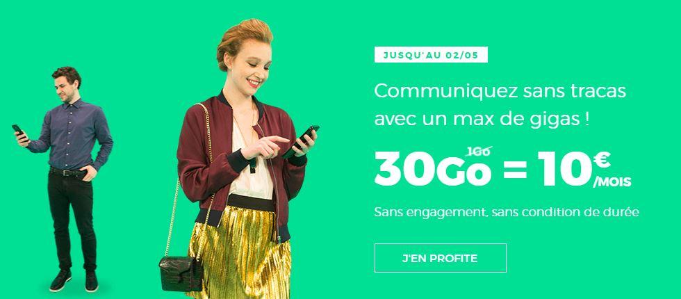 RED by SFR propose à nouveau 30 Go pour 10 euros à vie