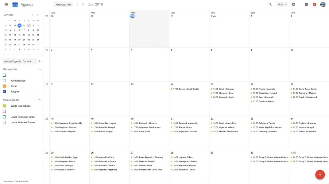 Agenda coupe du monde 03 1072x600 - Planifiez votre Coupe du monde de football avec Google Agenda