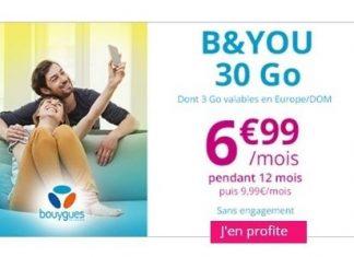 Forfait B&YOU 30 Go Showroomprivé