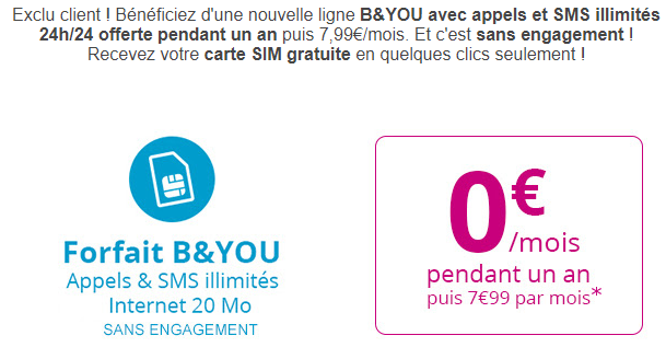bouygues telecom un forfait b you gratuit pour les abonn s. Black Bedroom Furniture Sets. Home Design Ideas