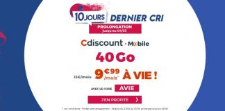 Forfait Cdiscount mobile 40 Go