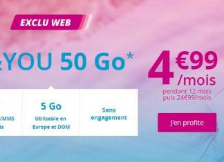 Forfait B&YOU 50 Go à 4.99 euros !