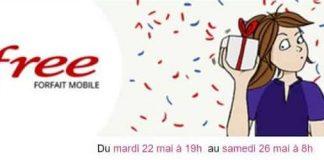 Forfait Free Mobile - une nouvelle promotion sur Vente Privée