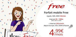 Forfait Free Mobile 4G 100 Go en promo sur Vente Privée