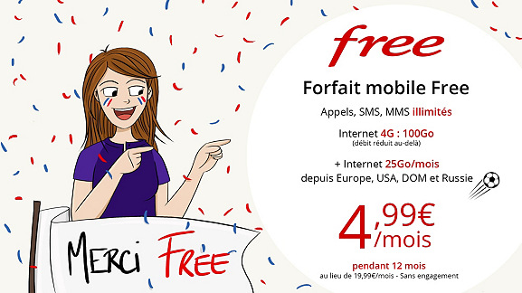 Vente Privée : l'offre à 4.99 euros sur le forfait 100 Go de Free Mobile prend bientôt fin !
