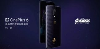 OnePlus 6 édition Avengers