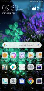 Interface du Huawei P20 Pro