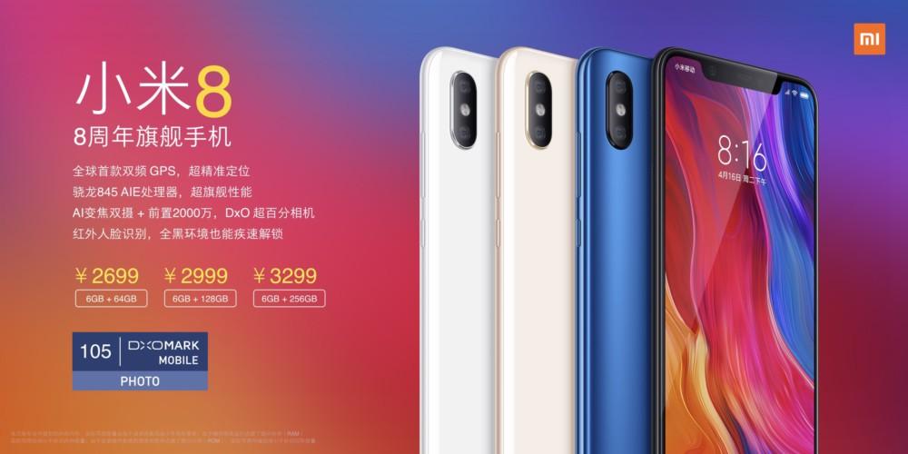 Avec ses trois Xiaomi Mi 8, le constructeur chinois s'apprête à détruire le marché