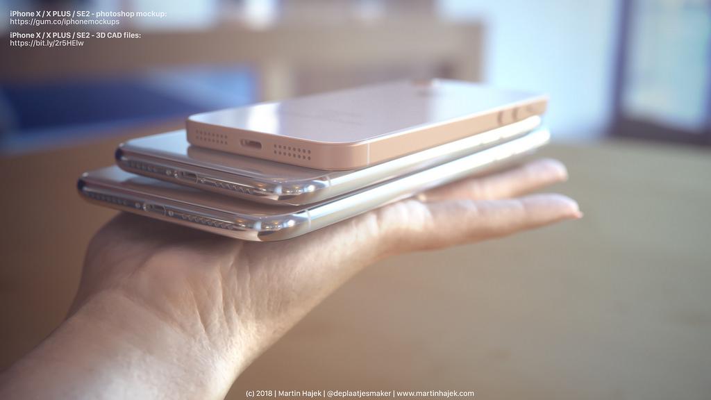 iPhone X Plus VS iPhone X VS iPhone SE 2 : l'ultime concept de Martin Hajek !