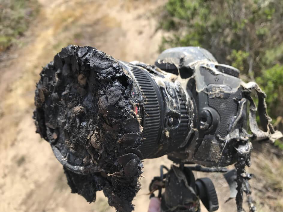 Quand un appareil photo s'enflamme au moment du décollage d'une fusée !