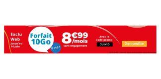 Auchan Telecom forfait 10 Go