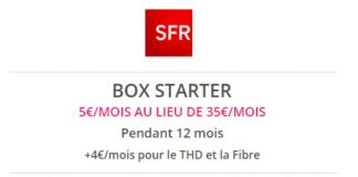 Box Starter SFR en promo sur Showroomprivé