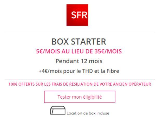 Bon plan : la box Starter de SFR passe à 5 euros sur Showroomprivé !
