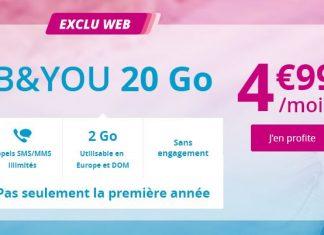 Forfait B&YOU 20 Go en promo