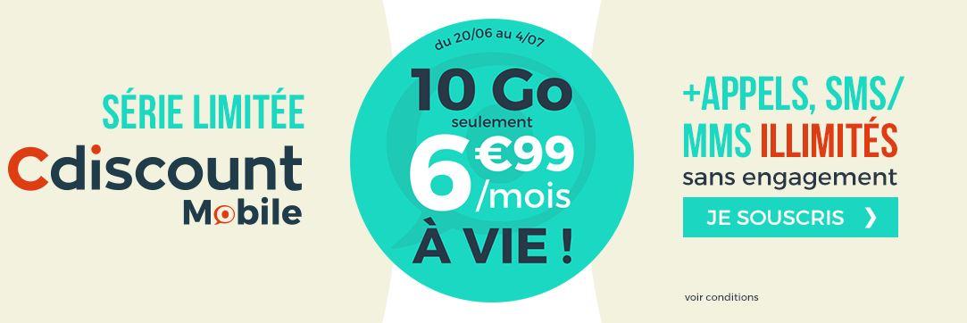 Cdiscount Mobile lance un forfait 10 Go à 6.99 euros par mois !