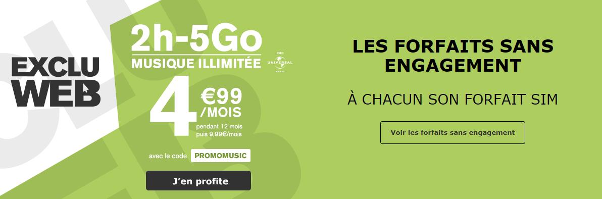 Bon plan La Poste Mobile : un forfait 2h 5 Go à 4.99 euros avec musique illimitée !