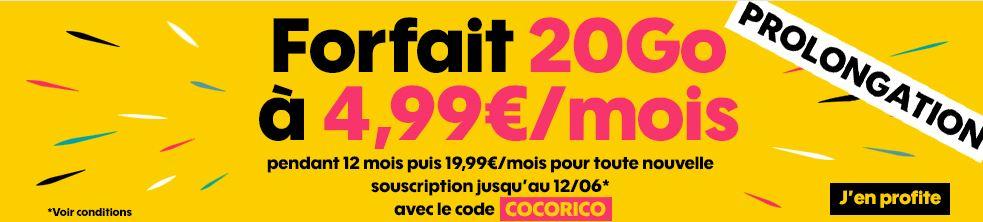 Forfait Sosh 20 Go à 4.99 euros : c'est reparti pour un tour !