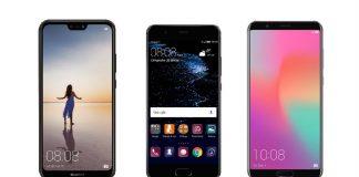 Huawei P20 Lite, P10 Plus et Honor View 10