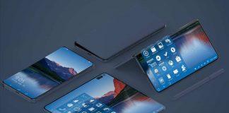 Concept de la tablette pliable Microsoft Andromeda