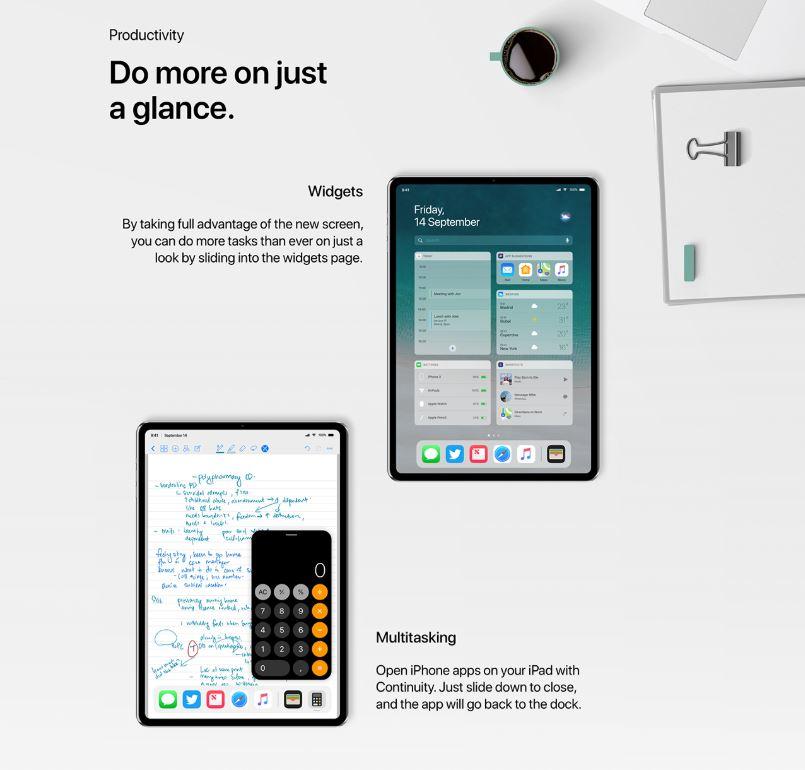 Nouvelles fonctionnalités sur iPad Pro 2018