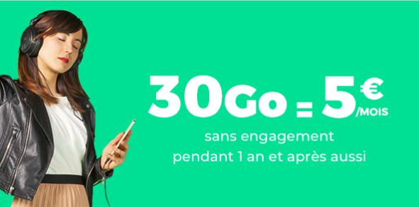Showroom Privé : le forfait RED by SFR 30 Go à 5 euros