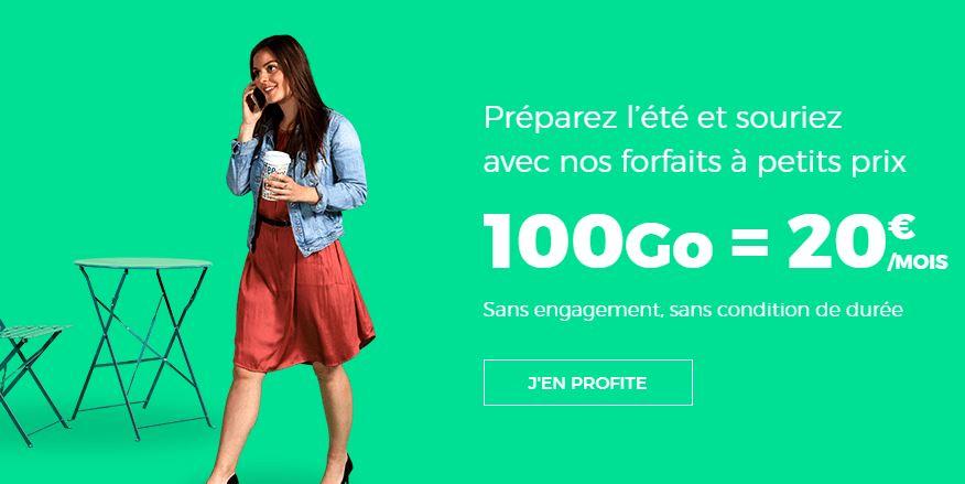 RED by SFR : un forfait 100 Go pour 20 euros par mois !