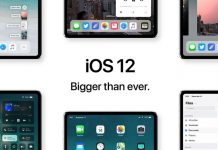 iOS 12 sur l'iPad Pro 2018