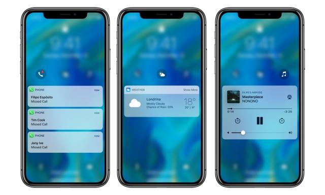 iOS 12 : voici un joli concept relatif aux compilations sur l'écran verrouillé