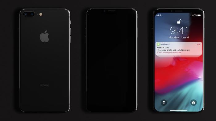 L' iPhone X se paie un nouveau concept dépourvu d'encoche