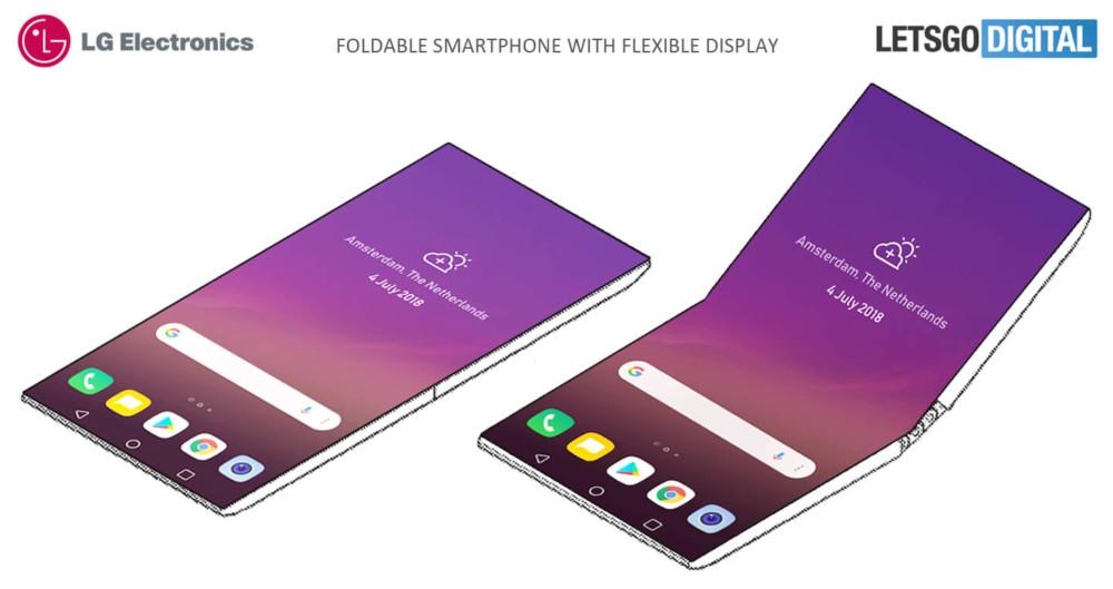 Brevet de LG sur un smartphone pliable