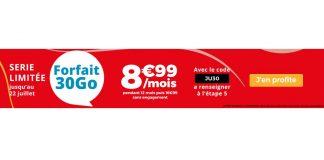 Forfait Auchan Telecom 30 Go