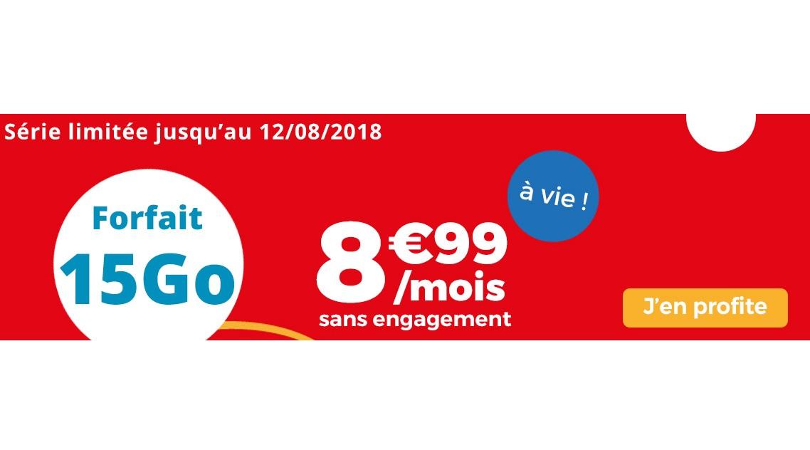 Auchan Telecom : un forfait 15 Go à 8.99 euros à vie !