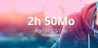 Forfait B&YOU 2h 50 Mo