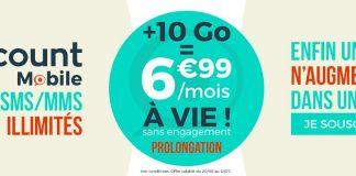 Forfait Cdiscount Mobile 10 Go