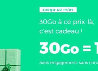 Forfait RED by SFR 30 Go à 10 euros